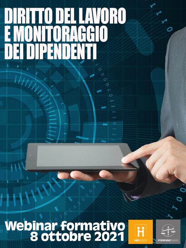 Webinar formativo - Diritto del lavoro e monitoraggio dei dipendenti